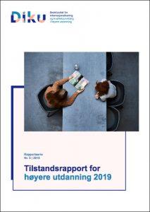 Forside Tilstandsrapport 5-2019 fra DIKU, Tilstandsrapport for høyere utdanning