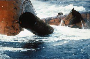 Alexander Kielland-stag som ble revet av. Foto: Norsk Oljemuseum. Lisens CC 3.0