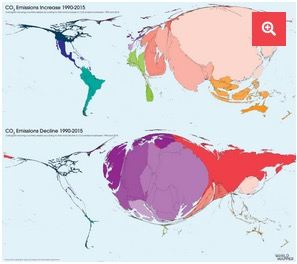 CO2-emissions-change Worldmapper.org Lisens: cc-by-nc-sa 4-0