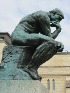 Rodin: Tenkeren. Foto Guy Dugas, Pixabay, fri bruk